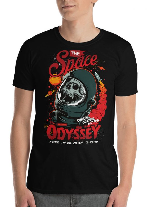 Astronaut Skull T-Shirt In Space no one can Hear You Scream